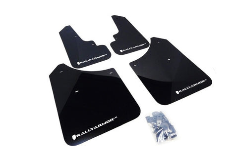 Rally Armor UR Mud Flap: Subaru Forester (03-08) Black/Grey logo