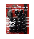 Project Kics Bull Lock Black Lug Nuts and Locks M12 x 1.5 [W651B19] - Syndicate Auto Salon