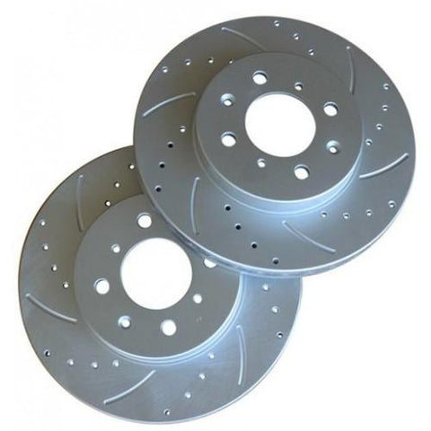 Truhart Brake Rotors: Honda Civic CX/DX/LX/HX Front - Drilled/Slotted 90-00 [TH-H901F]
