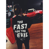 Too Fast For The Devil Crewneck - Syndicate Auto Salon