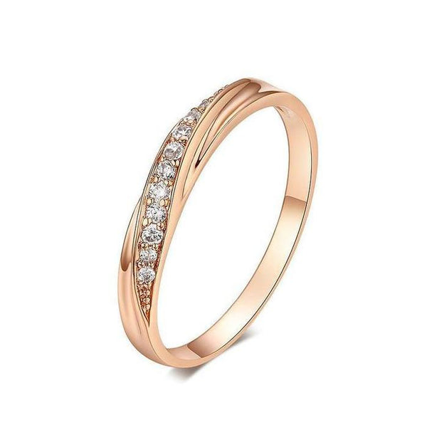 18k Gold Plated Stone Ring Discounted