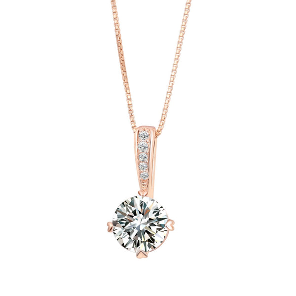 18k Plated Rose Gold Necklace Discounted