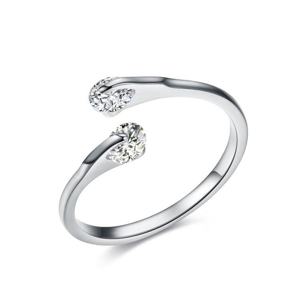 Double Zirconia Open Ring