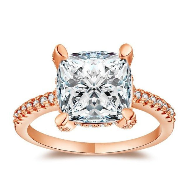 Exquisite Square Cut Ring