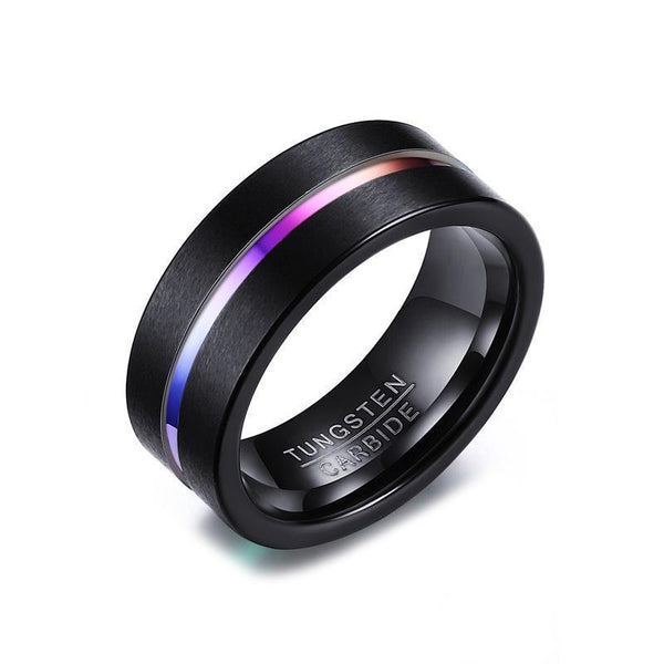 Tungsten Carbide Ring With Coloured Centre