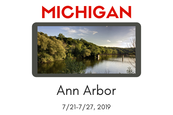WORKSHOP-Ann Arbor, MI 7/21-7/27, 2019-$300 Special Discount