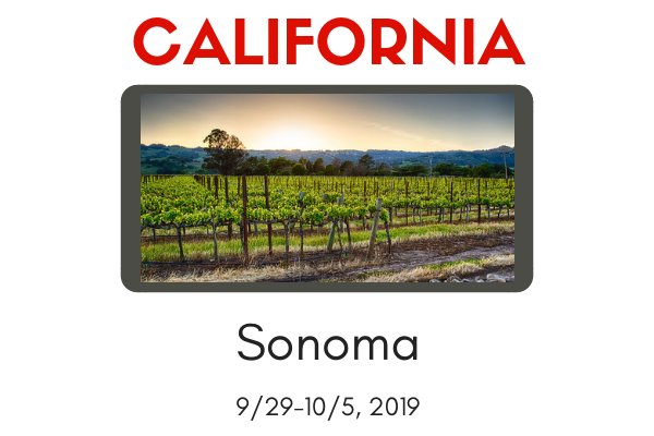 WORKSHOP-Sonoma, CA 9/29-10/5, 2019-$100 Discount