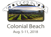 WORKSHOP-Colonial Beach, VA. August 5-11, 2018-$400 Total Tuition