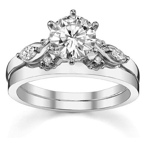 1CT Simulated Diamond Fine Engagement Ring - Jewel Volt