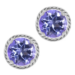 Mystic Topaz Sterling Silver Stud Earrings - Jewel Volt