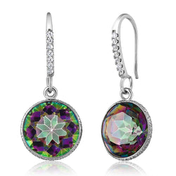 Sterling Silver Green Mystic Topaz Dangle Earring - Jewel Volt