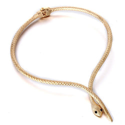 Snake Choker Necklace (Gold or Silver) - Jewel Volt