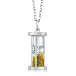 Sterling Silver Citrine Hourglass Necklace