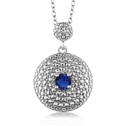 Statement Round with Sapphire Necklace