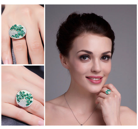 Green Emerald Cocktail Ring - Jewel Volt