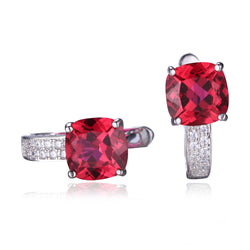 4.6ct Red Ruby Earrings - Jewel Volt