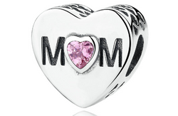 Pink CZ Mom Charm - Jewel Volt