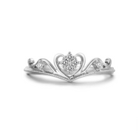 Sterling Silver Cubic Zirconia Crown Ring - Jewel Volt