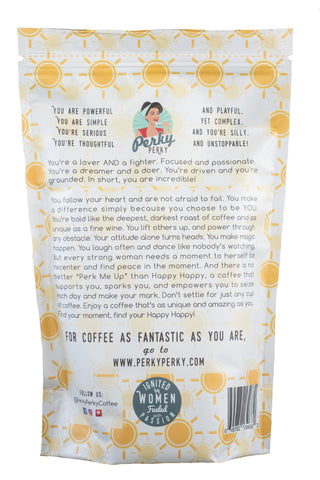 Promotional: Happy Happy - Costa Rican Tarrazu Dark Roast Coffee - 12 oz.