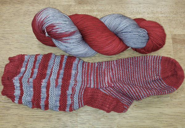 Sip & Knit Exclusive,  The Fiber Seed Sprout FIngering, 480 yds, O H Buckeye color
