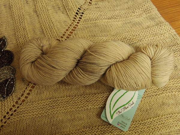 Sip & Knit Exclusive,  The Fiber Seed Sprout FIngering, 480 yds, Tucker color