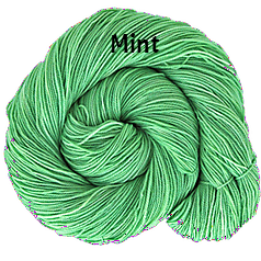 The FIber Seed Sprout fingering, 480 yds, mint color