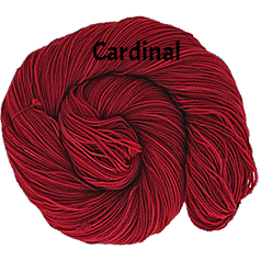 The FIber Seed Sprout fingering, 480 yds, cardinal color