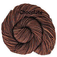 The FIber Seed Sprout fingering, 480 yds, chocolate color