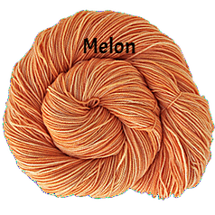 The FIber Seed Sprout fingering, 480 yds, melon color