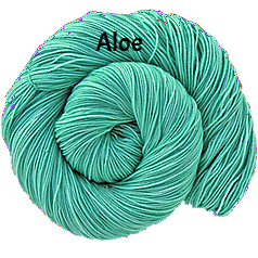 The FIber Seed Sprout fingering, 480 yds, aloe color