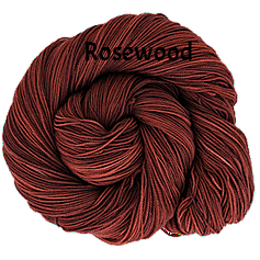 The FIber Seed Sprout fingering, 480 yds, rosewood color