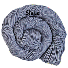 The FIber Seed Sprout fingering, 480 yds, slate color