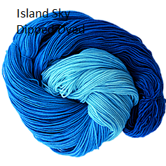 The Fiber Seed Sprout Fingering, 480 yds, Island Sky color
