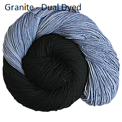 The Fiber Seed Sprout Fingering, 480 yds, Granite color