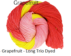 The Fiber Seed Sprout Fingering,480 yds, Grapefruit color