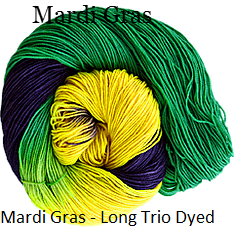 The Fiber Seed Sprout Fingering,480 yds, Mardi Gras color