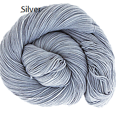 The Fiber Seed Sprout Fingering, 480 yds, silver color