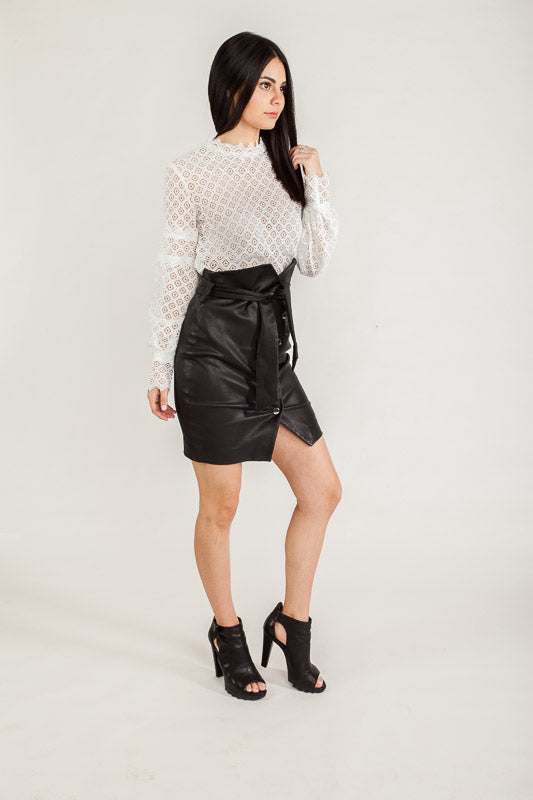 IRO Arya Lamb Skin Leather Skirt