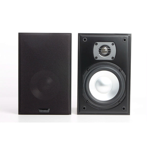 Vanatoo Transparent One Powered Bookshelf Speakers (Black)