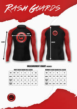Grey Red Predator Proof Rash Guard
