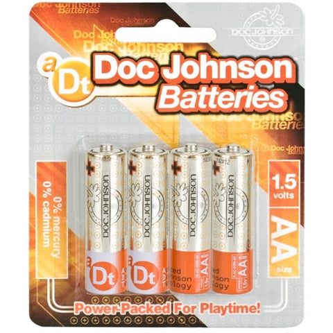 Doc Johnson Batteries - AA - 4 Pack - House of Pleasures Luxury Adult Sex Toy Store