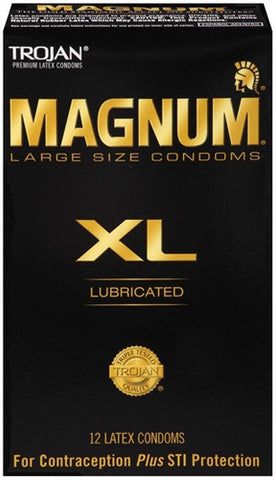Trojan Magnum XL Lubricated - 12 Pack - House of Pleasures Luxury Adult Sex Toy Store
