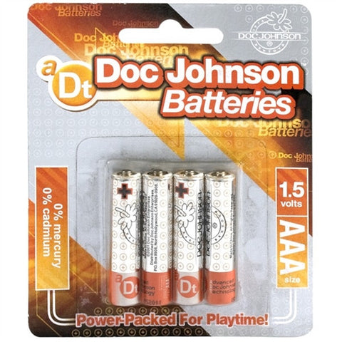 Doc Johnson Batteries - AAA - 4 Pack - House of Pleasures Luxury Adult Sex Toy Store