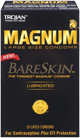 Trojan Magnum BareSkin Condoms - 10 Pack - House of Pleasures Luxury Adult Sex Toy Store