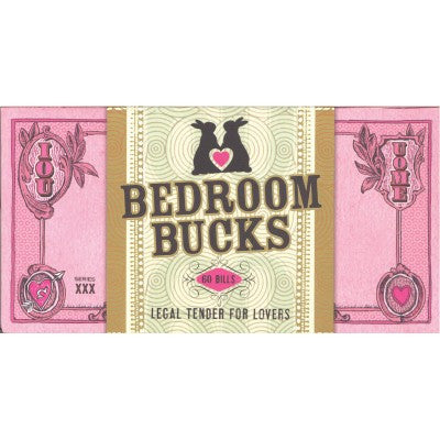 Potter Style Bedroom Bucks Checkbook | House of Pleasures