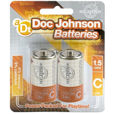 Doc Johnson Batteries - C - 2 Pack - House of Pleasures Luxury Adult Sex Toy Store