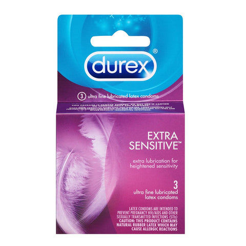 Durex Extra Sensitive Condoms - 3 Pack - House of Pleasures Luxury Adult Sex Toy Store