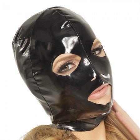 Fetish Fantasy Wet Look 3-Hole Hood Small - House of Pleasures Luxury Adult Sex Toy Store