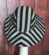 Grey Striped Sun Hat