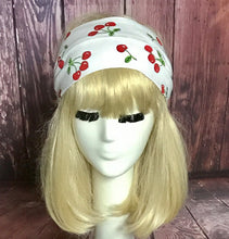 Cherry Print Knit Headband